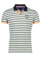 New Zealand Polo Shirt Groen Wit Gestreept Normale fit
