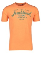 New Zealand Polo Shirt Oranje Effen Print Normale fit