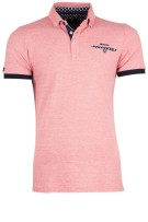 New Zealand Polo Shirt Rood Gestreept Normale fit