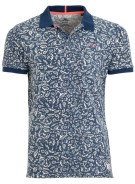 New Zealand Robertson polo blauw motief