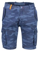 New Zealand Short Donkerblauw Blauw Print Normale fit