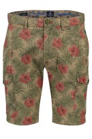 New Zealand Short Rood Bruin Print Normale fit