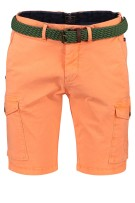 New Zealand shorts Mission Bay oranje met riem