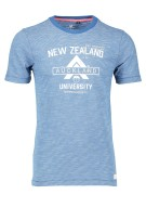 New Zealand T-shirt Blauw Print Normale fit