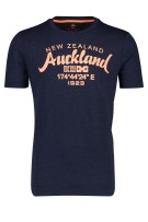 New Zealand T-shirt Donkerblauw Effen Print Normale fit