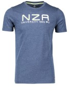 New Zealand T-shirt Donkerblauw Print Normale fit