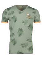 New Zealand T-shirt Groen Print Normale fit