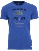 New Zealand T-shirt kobalt met opdruk
