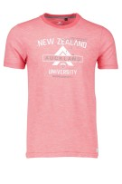 New Zealand T-shirt Rood Print Normale fit