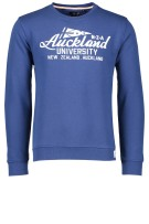 New Zealand Trui Blauw Effen Normale fit