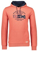 New Zealand Trui Oranje Effen Print Normale fit