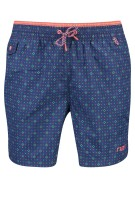 New Zealand Zwemshort Donkerblauw Print Normale fit