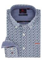 NZA overhemd button down blad motief