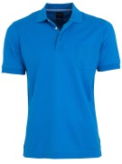 Olymp Polo Shirt Blauw Effen Normale fit