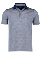 Olymp Polo Shirt Donkerblauw Print Normale fit