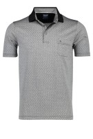 Olymp Polo Shirt Grijs Print Normale fit