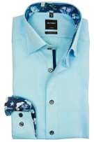 Olymp shirt modern fit aqua strijkvrij
