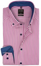 Olymp shirt roze streep modern fit button down