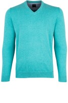 Olymp Trui Turquoise Effen Normale fit