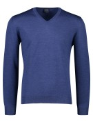 Olymp wollen pullover v-hals donkerblauw