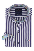 Overhem Portofino blauw wit strepen Regular Fit