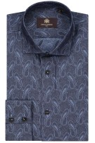 Overhemd Circle of Gentlemen blauw motief Kennedy
