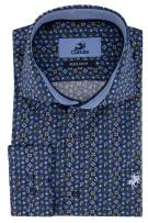 Overhemd Culture blauw paisley Regular Fit