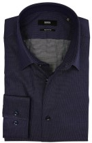 Overhemd Hugo Boss mouwlengte 7 regular fit navy