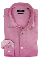 Overhemd Hugo Boss roze slim fit