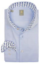 Overhemd Jacques Britt slim fit blauw