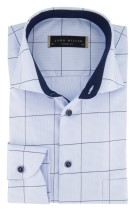 Overhemd John Miller blauw Tailored Fit