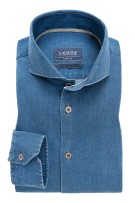 Overhemd Ledub denimblauw Tailored Fit