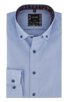 Overhemd Olymp button down button blauw