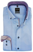 Overhemd Olymp modern fit blauw button down