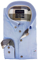 Overhemd portofino blauw button down
