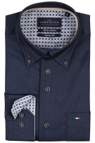 Overhemd Portofino button-down Regular Fit navy
