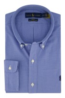 Overhemd Ralph Lauren blauw button down Slim Fit