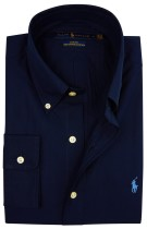 Overhemd Ralph Lauren slim fit navy