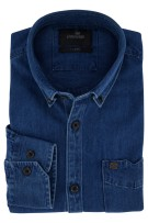 Overhemd Vanguard blauw denim