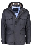 Paul & Shark jack colbertlengte capuchon navy