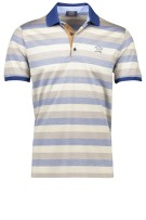 Paul & Shark polo blauw beige gestreept