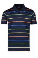 Paul & Shark polo donkerblauw gestreept multicolor