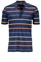 Paul & Shark polo donkerblauw gestreept