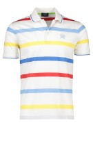 Paul & Shark polo katoen gestreept wit multicolor