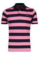 Paul & Shark polo strepen roze navy korte mouw