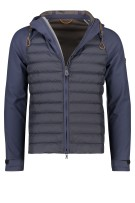 Peuterey jack capuchon dubbele rits donkerblauw