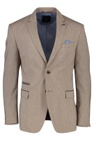 Pierre Cardin colbert regular fit structuur beige
