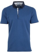 Pierre Cardin Polo Shirt Blauw Print Normale fit
