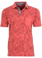 Pierre Cardin Polo Shirt Rood Print Normale fit