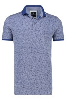 Polo Baileys Extra Lang Blauw Print Wijde fit